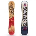 BeXtreme Snowboard Flames 2018