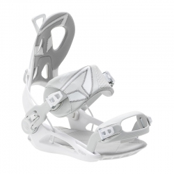 SP Private White Snowboard Bindings
