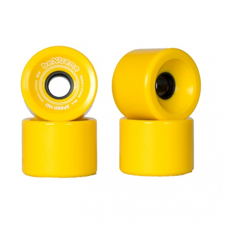 Longboard wheels Speed 80A Yellow marbled BeXtreme