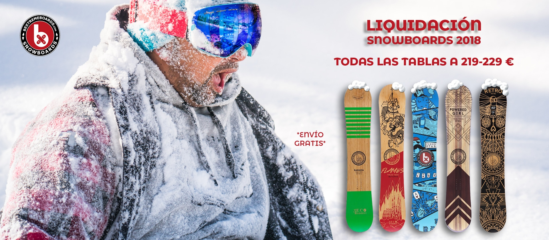 liquidacion snowboards