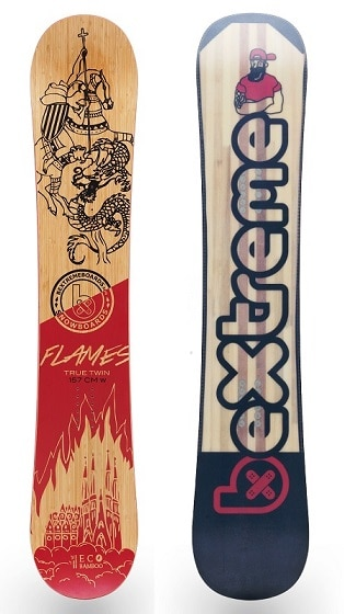 snowboard bextreme flames