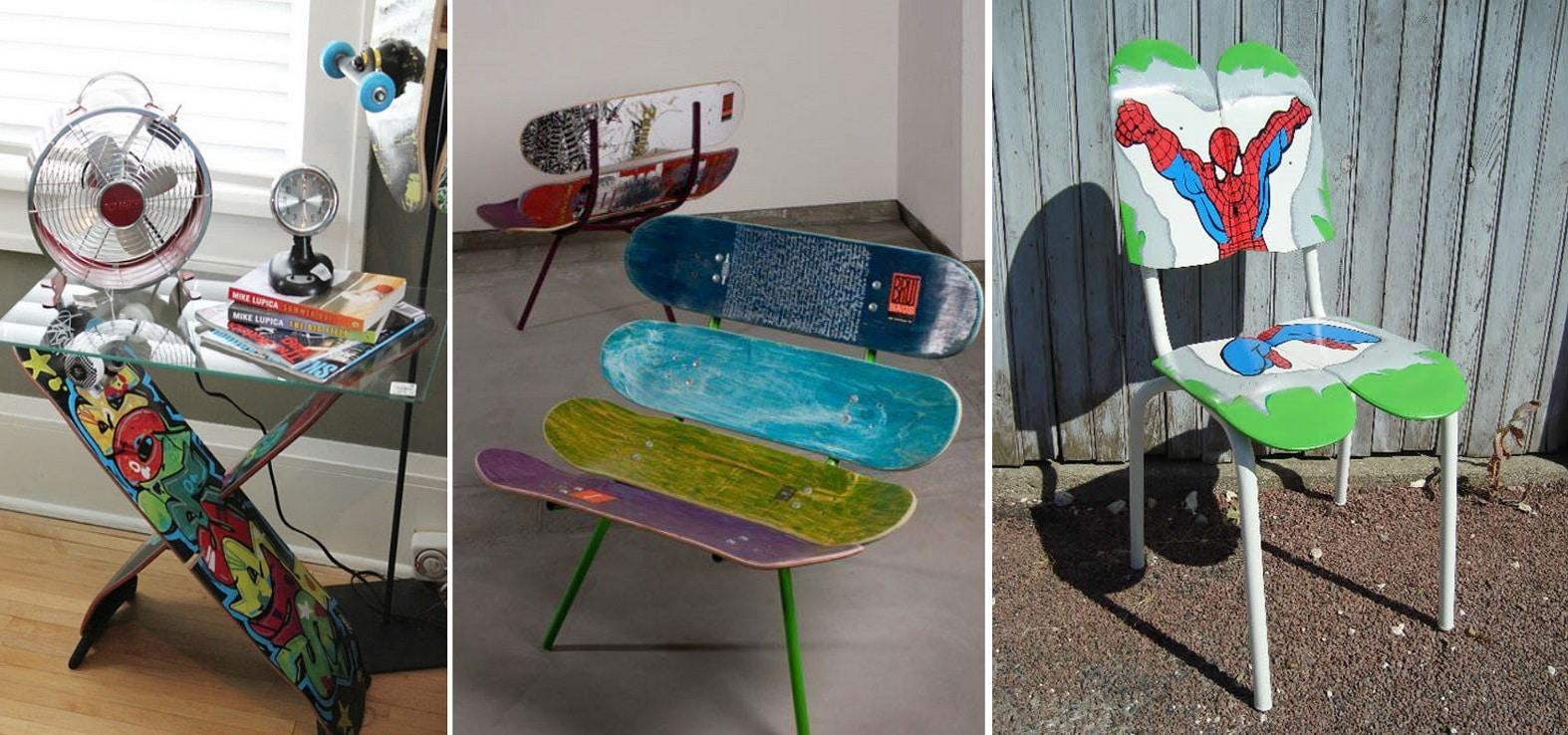 skate mesa y silla