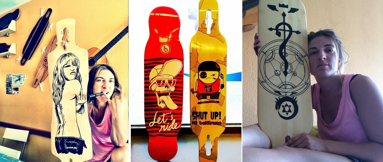 skate y longboards personalizados