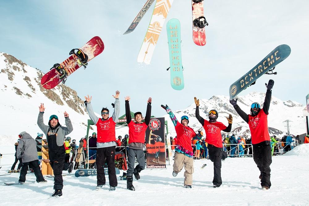 test de tablas snowboard