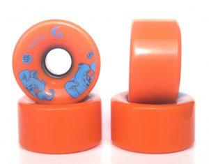 ruedas longboard freeride glutier 65 orange