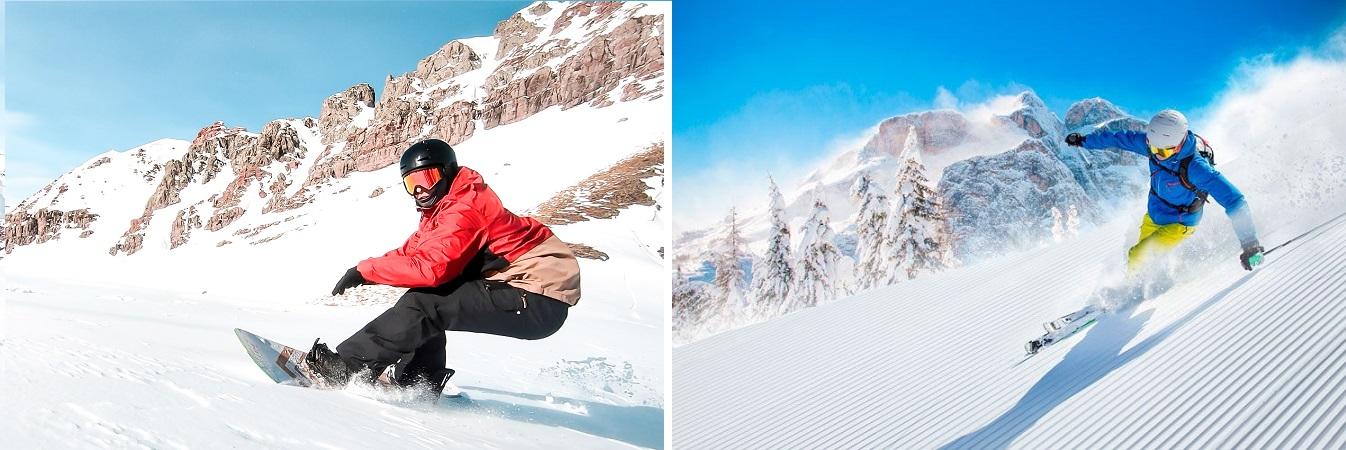 snow vs esqui