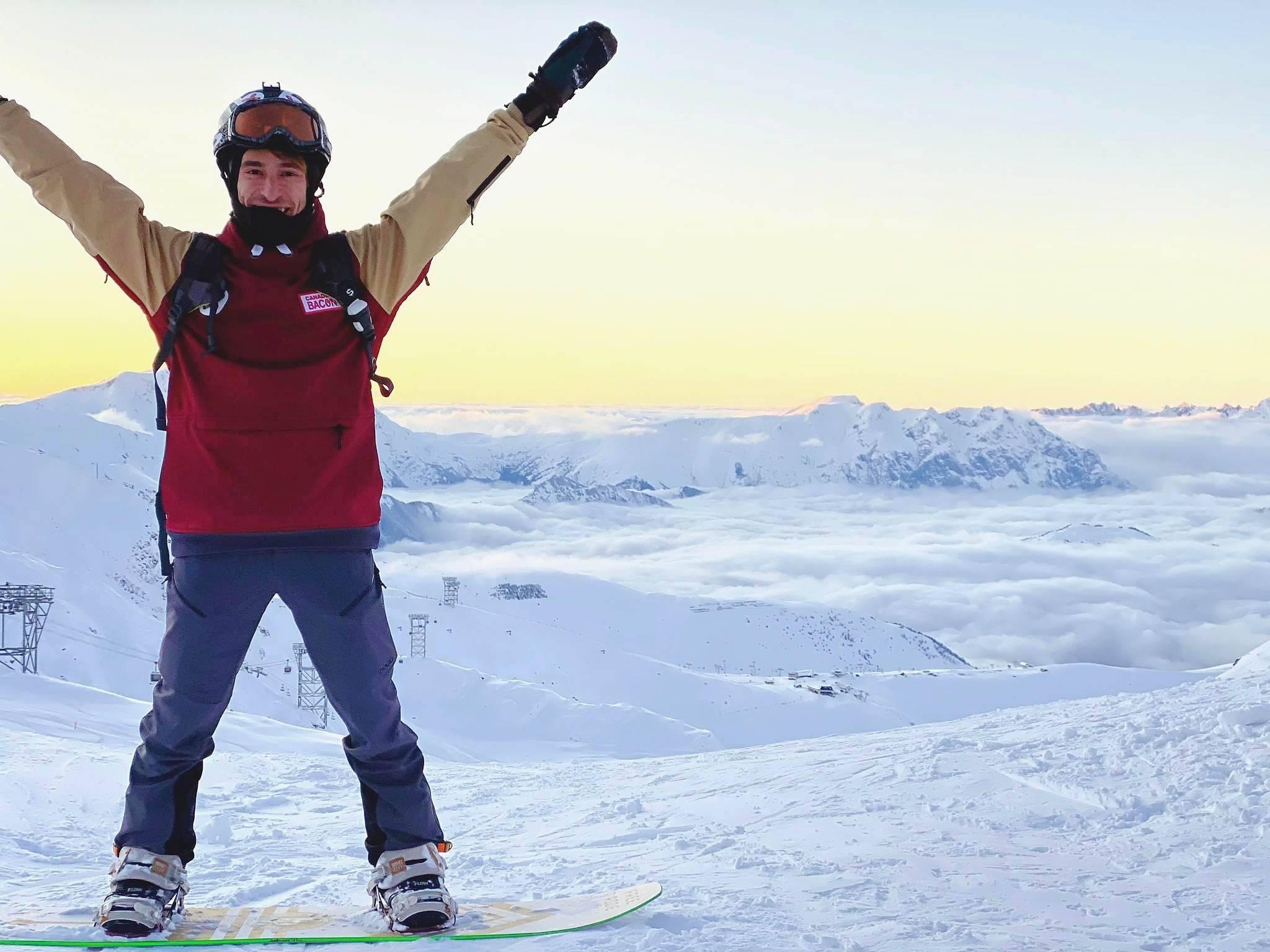 goofy snowboard