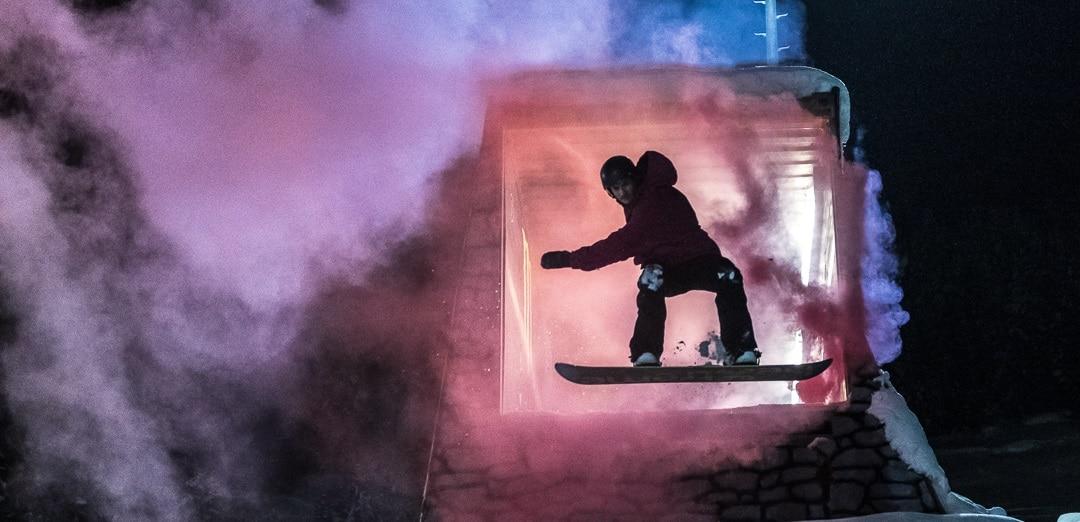 saltos snowboard en Peretol