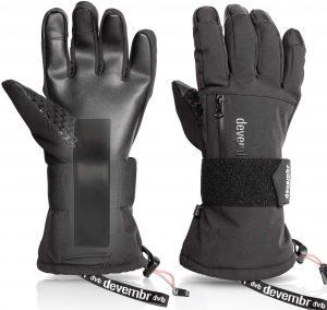 guantes snowboard con protecciones