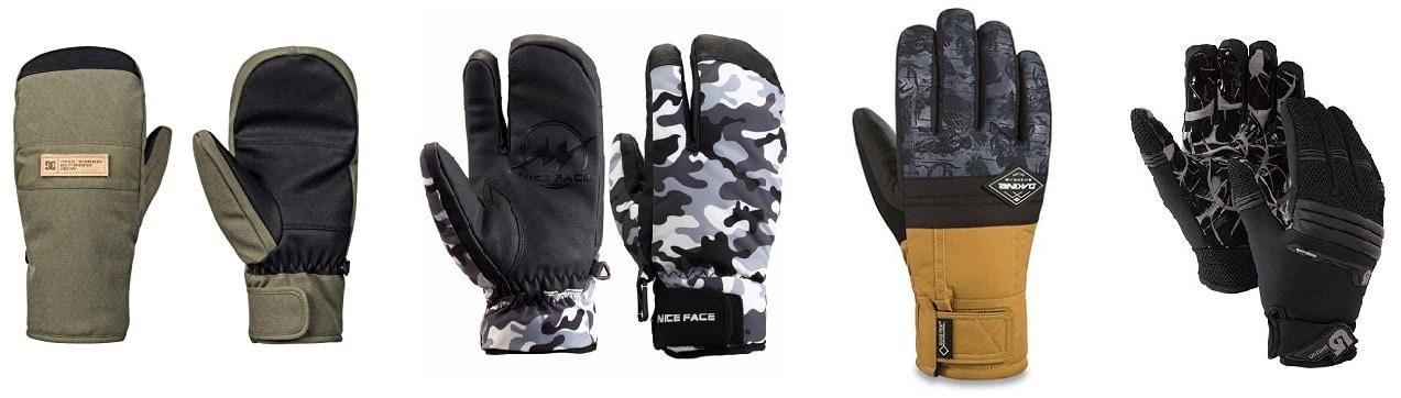 guantes y manoplas snowboard