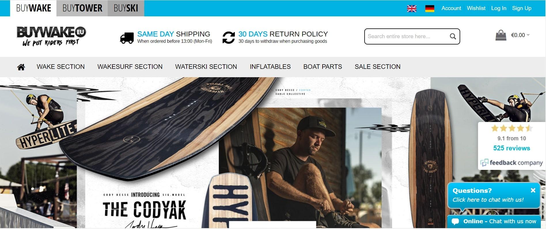 tienda wakeboard online buywake