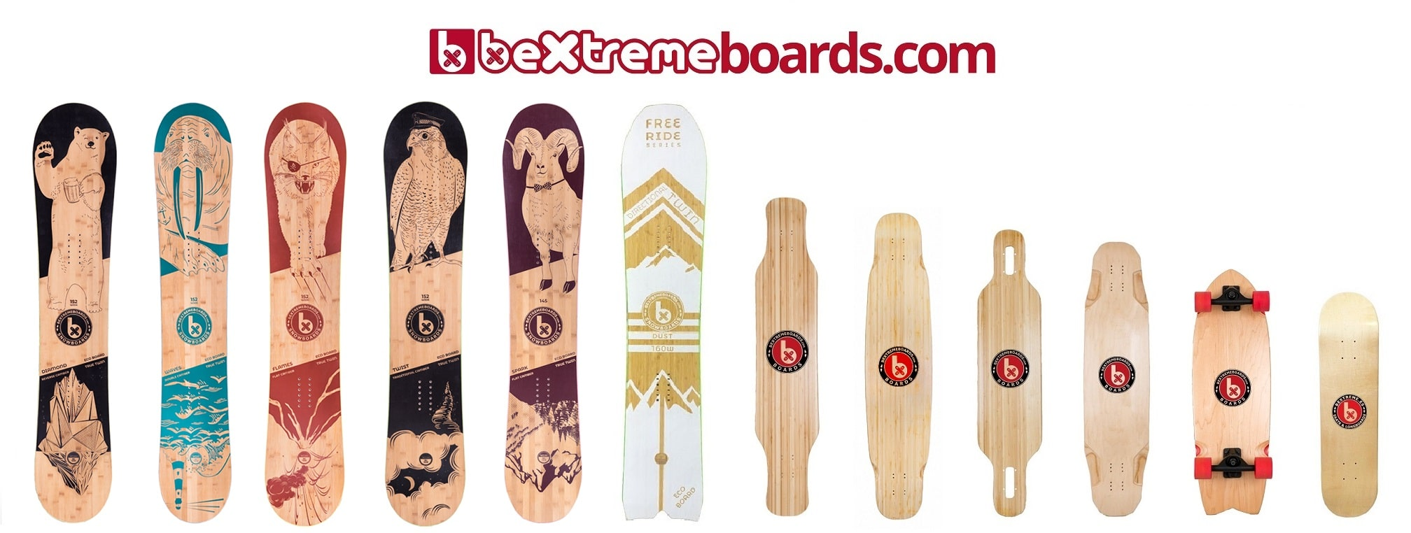 SNOWBOARDS-LONGBOARDS BEXTREME 2020