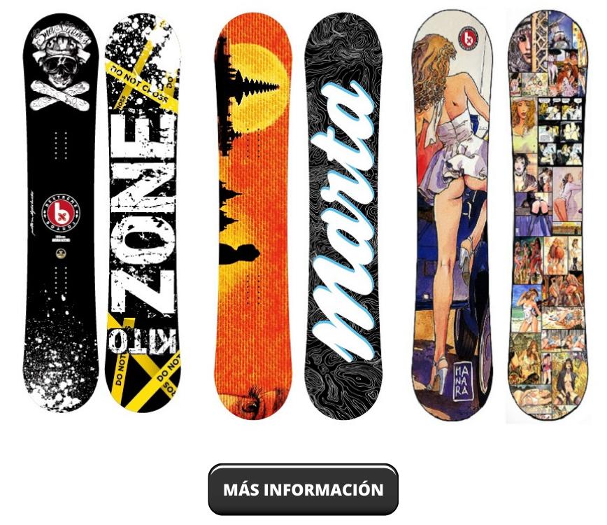 Snowboards personalizados por BeXtreme